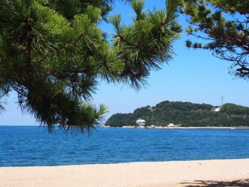 海岸へは徒歩0分!海と津田の松原は目の前!